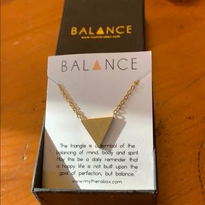 Balance solid triangle necklace